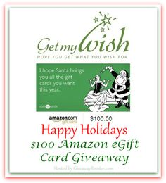 Get my wish $100 Amazon gift card giveaway Ends 10/23 (US- Group) - http://giveohgiveaway.com/get-wish-100-amazon-gift-card-giveaway-ends-1023-us-group/