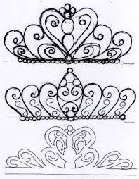 Billedresultat for tiara template for cake