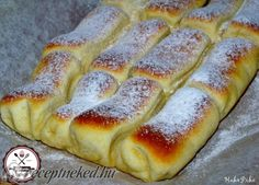 to 600 x 432 Hungarian Desserts, Hungarian Recipes, Cookie Recipes, Dessert Recipes, Bread Recipes, Croatian Recipes, Creative Food, Hot Dog Buns, Food And Drink