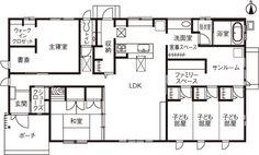 建築事例|注文住宅|ダイワハウス Craftsman Floor Plans, House Floor Plans, Floor Design, House Design, Passive House, Japanese Interior, Small Studio, Japanese House, Future House