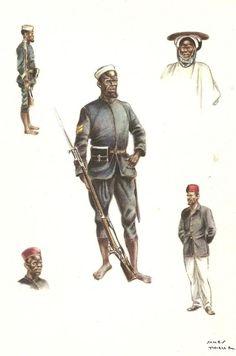 Soldats haoussas 1883