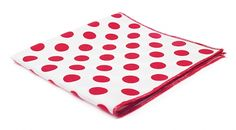 marthu pocket squer pm0005 RED DOTS
