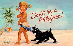 Coppertone suntan lotion ad from the early 1960s.