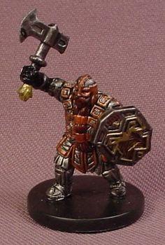 Dungeons & Dragons Dwarf Battle Master, D&D Miniature Figure, Starter 1/5, Good C 31