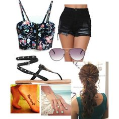 Summer by samicole on Polyvore featuring polyvore, fashion, style, Ash and BCBGMAXAZRIA