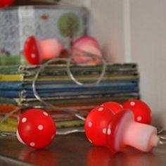 leuke LED licht slinger paddenstoel