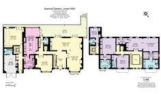 Newly Built Brick Mansion In London, England - Floor Plans - 1st Floor & 2nd Floor
