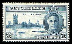 Seychelles 150 Stamp King George VI and Parliament Buildings IO SEY 150-1  (http://www.bmastamps2.com/stamps/island-nations/seychelles/seychelles-150-stamp-king-george-vi-and-parliament-buildings-io-sey-150-1/)
