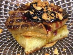 Peanut Butter and Jelly Foie Gras : I'm just pinning for the honey-roasted almond butter recipe.
