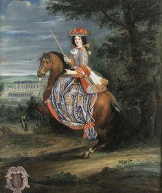 1670s La duchesse de Bouillon by Joseph Parrocel (Skoklosters slott - Skoklosters, Sweden) UPGRADE the lost gallery