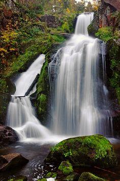 Black Forest Waterfall ~ Gutach River ~ Baden-Wurttemberg ~ Triberg ~ Schwarzwald ~ Germany
