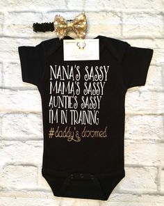 Baby Girl Clothes Sassy Bodysuits Sassy Like My by BellaPiccoli