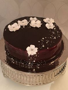 Pearls & Blossoms Chocolate Cake