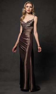 Brown slinky gown