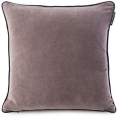 Lexington Washed Velvet Cushion Cover - 50x50cm - Grey