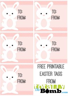 Free Printable Easter Tags. These are totally adorable!
