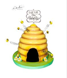 Call or email to order your celebration cake today. Click the link below to learn more. Bee Hive Cake, Cake Decorating Designs, Cakes Today, Cupcake Wars, Beehive, Custom Cakes, Baby Shower Cakes, Little Babies