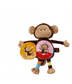 Basile Monkey Cuddle Book by Lilliputiens Toys