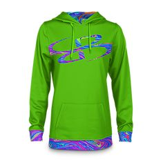 12c8136824c7 Boombah INK Women s Hoodie 1018 Lime Green Cyan