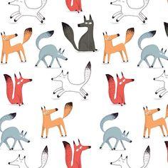 Fox pattern I made in 2012. #fox #illustration #pattern