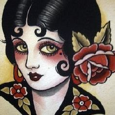 deco girl tattoo - Bing Images