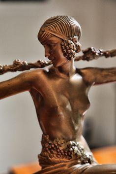 "Art Deco Bronze by Le Faguays ""Dancer with Thyrsus""circa 1925 by penfoto, via Flickr"