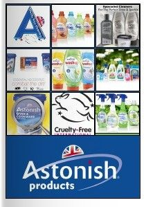 Astonish manufactures high quality cleaning products in the North of England, all Astonish products are biodegradable, cruelty free and vegan approved. Please browse through our latest catalogue, which includes all the latest changes in the Astonish range.