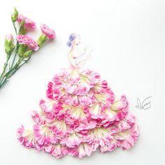 Resultado de imagen para fashion with real petals japan