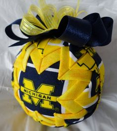 University of Michigan Inspired Quilted Ball by ncgalcreations, $15.00