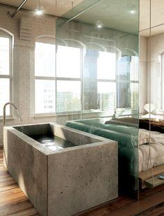 Sunshine After Rain #bathroom #design #interiors