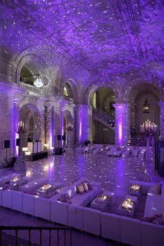 "This is the perfect ""starry nights"" themed wedding reception. For more amazing ideas, click the image and learn all about wedding decor and rentals from Nashville's Grand Central Party Rental wedding rentals. Connect with them Central Party Rental. Purple Love, All Things Purple, Shades Of Purple, Purple Stuff, Purple Sweet 16, Purple Rain, Sweet 15, Deep Purple, Pink Purple"
