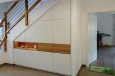 Wardrobes, furniture for corridors and entrance areas made to measure - Wohnung - # Staircase Storage, Stair Storage, Pantry Cupboard, Cupboard Storage, Under Stairs Cupboard, Wardrobe Furniture, House Entrance, Entrance Ideas, Stairways