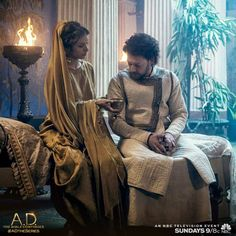 Caiaphas and Leah stand firm against the followers of Jesus, but at what cost? Find out in TWO DAYS on all new episode of A.D. The Bible Continues at 9/8c on NBC. | A.D. The Series