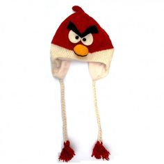Addicted to angry birds? You'll love these free angry birds knitting patterns. Make an angry birds plush toy, a green pig toy, knit yellow bird. Have got to learn how to knit! Knitting For Kids, Knitting Projects, Knitting Patterns, Knit Or Crochet, Crochet Hats, Knit Hats, Angry Birds Costumes, Red Angry Bird, Bird Costume