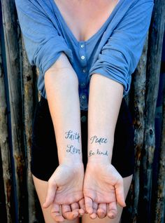 The Simple Reminders Temporary Tattoo Set
