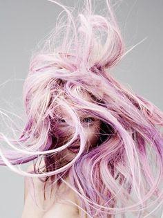 Dusty lavender hair. So magical!
