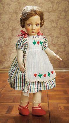 As in a Looking Glass: 263 Italian Felt Character Girl