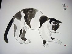 black and white cavas artwork | Art: Black and White and Bug by Artist Tracey Allyn Greene