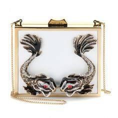 Roberto Cavalli Metal And Leather Box Clutch (52 420 UAH) ❤ liked on Polyvore featuring bags, handbags, clutches, purses, сумки, bianco ottico, hard clutch, leather clutches, genuine leather handbags and leather handbag purse