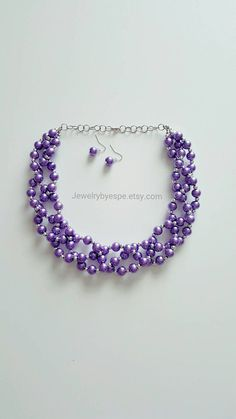 Hey, I found this really awesome Etsy listing at https://www.etsy.com/listing/467856169/bridal-purple-necklacepearl