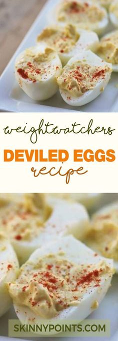 Weight Loss Cutting Calories Deviled Eggs Come with Only 1 weight watchers Smart Points - Servings: 24 Weight Watchers Sides, Weight Watchers Lunches, Plats Weight Watchers, Weight Watchers Smart Points, Weight Watcher Dinners, Weight Watchers Free, Weight Watchers Appetizers, Weight Watchers Vegetarian, Weight Watchers Breakfast