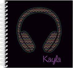 Chevron Headphones Journal | Notebook