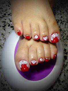 40 Best Ideas For White Pedicure Toenails Polish Pedicure Colors, Pedicure Designs, Pedicure Nail Art, Toe Nail Designs, Nail Polish Designs, Toe Nail Art, White Pedicure, Pretty Pedicures, Pretty Toe Nails