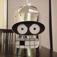 .@Jana Hermes | P wie Pappkopp #abcfee #futurama #bender #robot #costume #fun #dressup #paper...