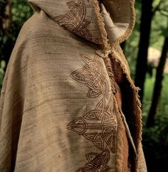 Embroidered cloak