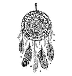 Ethnic american indian dream catcher vector 1844192 - by transia on VectorStock®