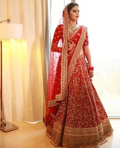 Gorgeous Designer Bridal Lehenga Choli by famous Indian Designer Sabyasachi Mukherjee Wedding Lehnga, Designer Bridal Lehenga, Indian Bridal Lehenga, Indian Bridal Outfits, Indian Bridal Fashion, Indian Bridal Wear, Bridal Lehenga Choli, Indian Dresses, Bridal Dresses