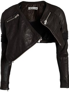 Biker Styled Cropped Jacket OMG. I need this jacket in my life.