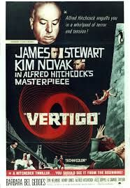 """Vertigo is a 1958 American psychological thriller film directed and produced by Alfred Hitchcock.The film was shot on location in San Francisco, California, and at Paramount Studios in Hollywood. It is the first film to utilize the dolly zoom, an in-camera effect that distorts perspective to create disorientation, to convey Scottie's acrophobia. As a result of its use in this film, the effect is often referred to as """"the Vertigo effect""""."""