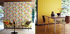 papel pintado Estilo Retro, Divider, Curtains, Shower, Room, Furniture, Orla Kiely, Home Decor, New Houses